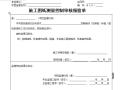 [B类表格]施工图纸测量控制审核报验单