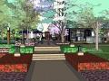 高层住宅小区景观设计SU模型