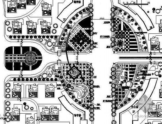 河南某广场详细规划总平面图