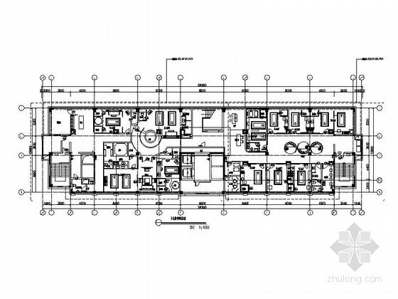 [上海]高档现代航空酒店室内装修设计工程施工图(含效果图)