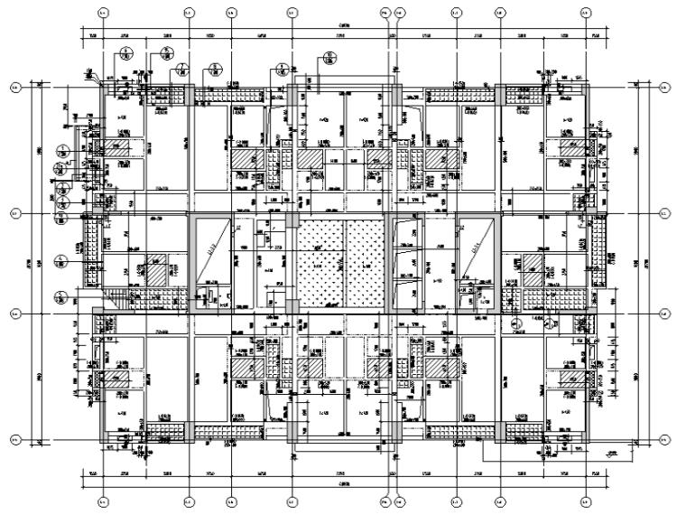 [汕头]商务办公楼及裙房框筒结构施工图2016