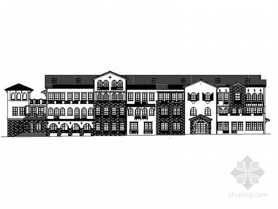 [山东]4层村委会办公楼建筑设计施工图