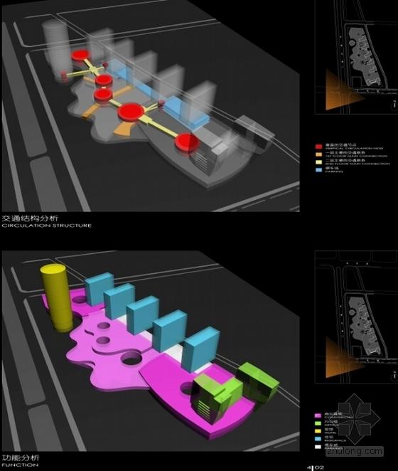 [广东]长廊并排式商业中心建筑设计方案文本-长廊并排式商业中心建筑设计分析图