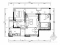 精品简约现代风格三居室装修室内设计施工图(含软装方案)