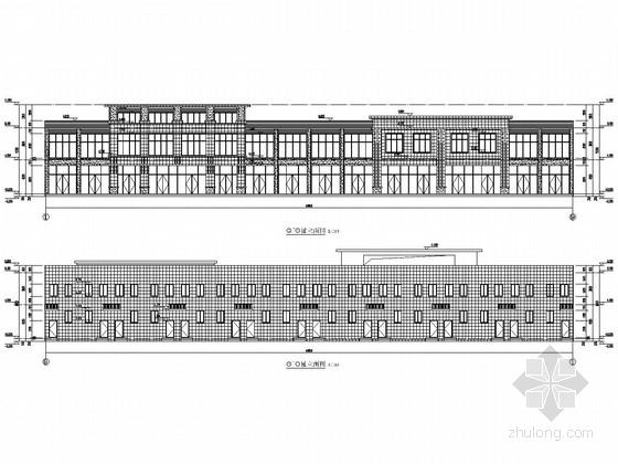 2栋两层框架结构安置小区商业楼结构施工图(含建筑图)