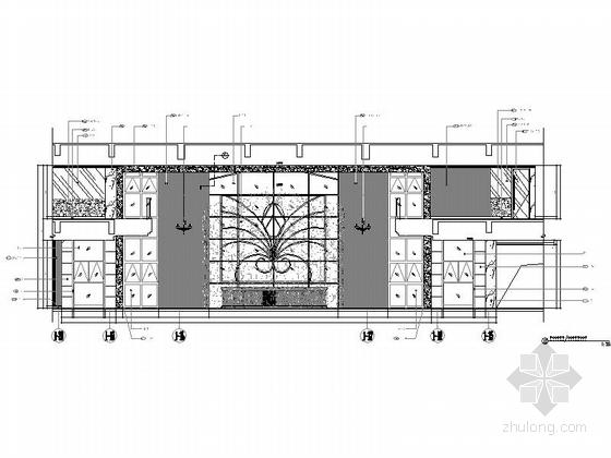 [成都]豪华四层商务会所室内装修图(含方案文本) 立面