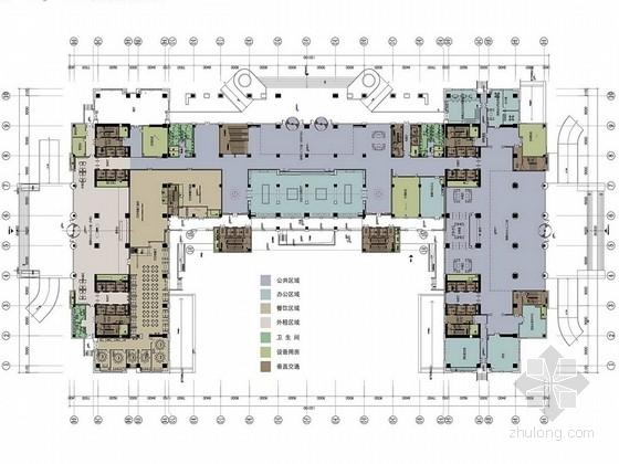 [山西]多元化大型煤炭企业集团高档现代办公楼设计方案