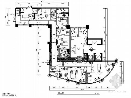 [陕西]美容养生新中式风格会所室内装修施工图(含效果)