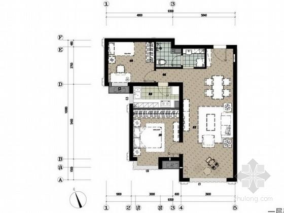 [涿州]新古典简欧风格两居室室内设计方案