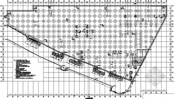 单层框架结构城市广场改造加固结构施工图