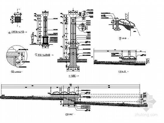 园林景观灯柱设计施工详图