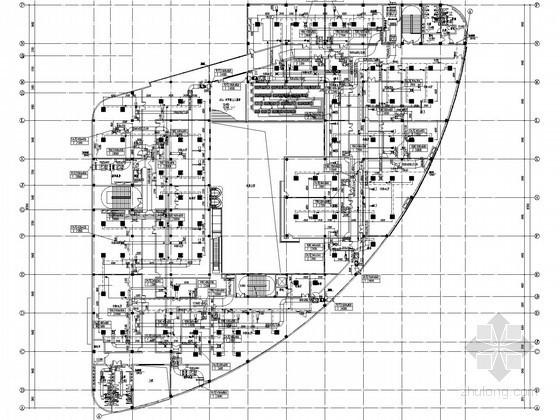 [南昌]商业街空调通风设计全套施工图(6栋建筑 大院图纸)