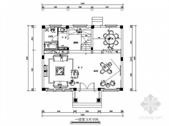 [杭州]欧式风格家装室内施工图(含效果图)