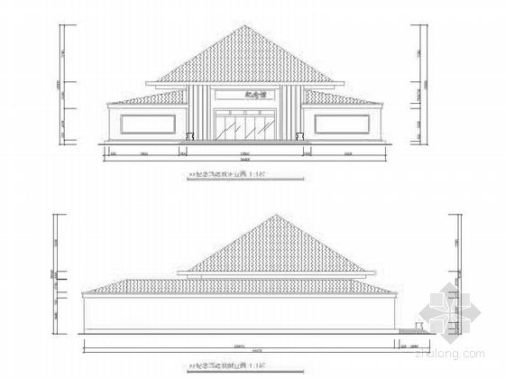 [毕业设计]某展览纪念馆室内设计施工图(含效果) 外立面