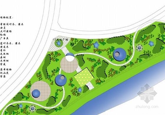 IT文化广场景观节点平面图