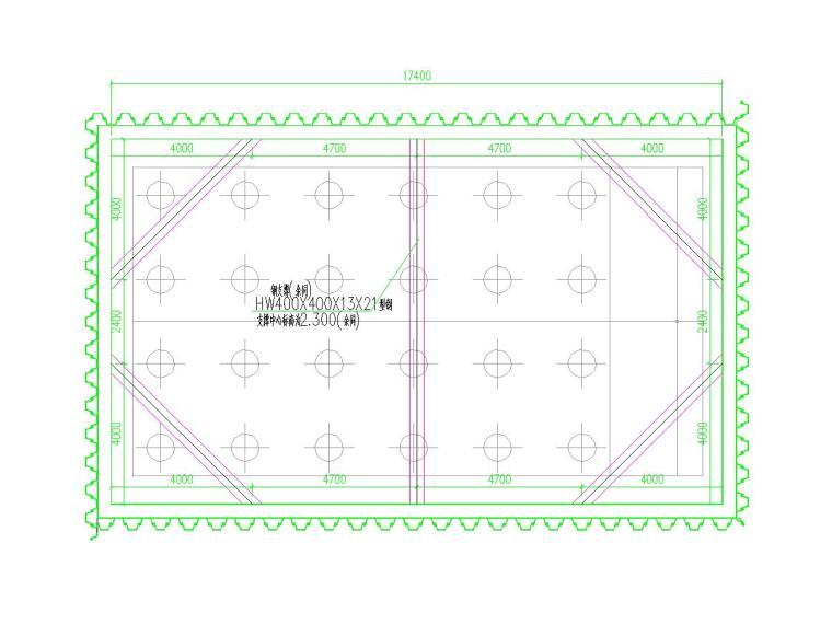 基坑钢板桩结合型钢支撑支护施工图(附计算书)