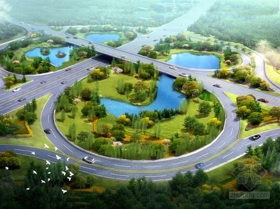 [重庆]综合型山水绿廊道路景观规划设计方案(含PSD文件)
