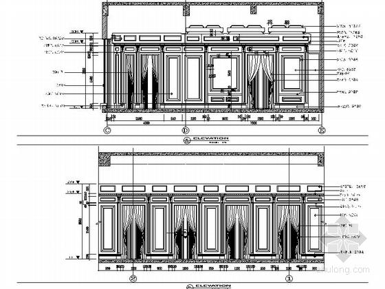 [苏州]奢华欧式风格商务会所三层健身娱乐区室内装修图(含效果)立面