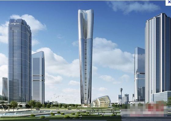 建筑鄂军承建珠海第一楼,拆除基坑内支撑创两项珠海之最-横琴国际金融中心大厦项目效果图.jpg