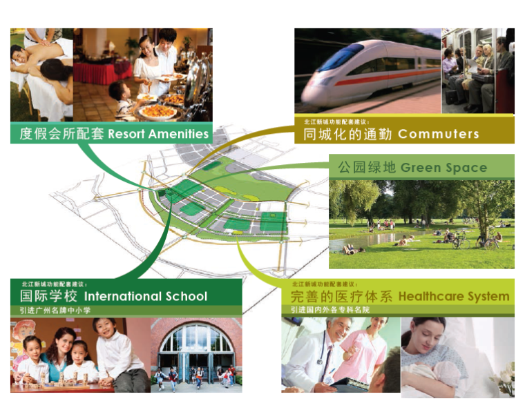 【广东】清远江北新城项目概念规划设计