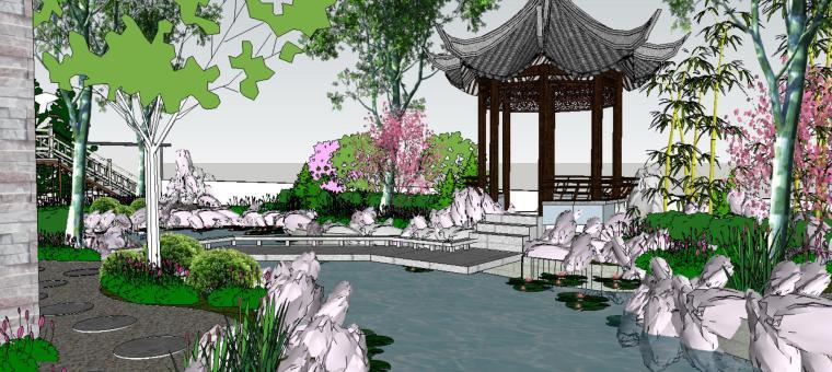 座凳•座椅,景墙•围墙,水景庭院设计su模型_5