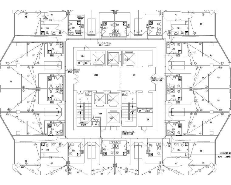 云南省曲靖市53层超高层全套电气图纸(系统完整)