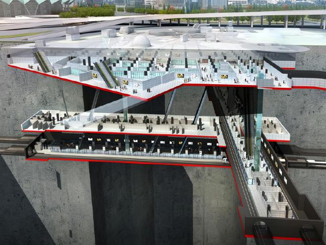 [河南]含换乘车站盾构区间6km轨道交通工程单项设计技术标372页(附效果图、总包标书)