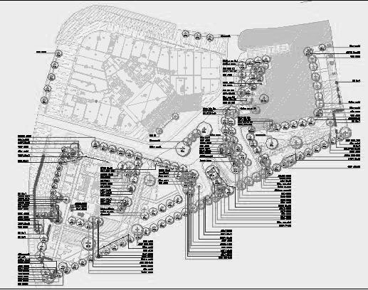 四川成都金色海蓉景观设计施工图-植物设计1