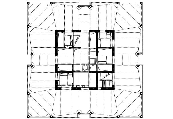 框架核心筒结构金融中心超限塔楼抗震设计论文图片