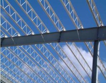 大空间钢结构桁架檩条系统