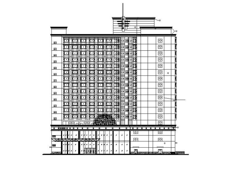 高层酒店建筑施工图