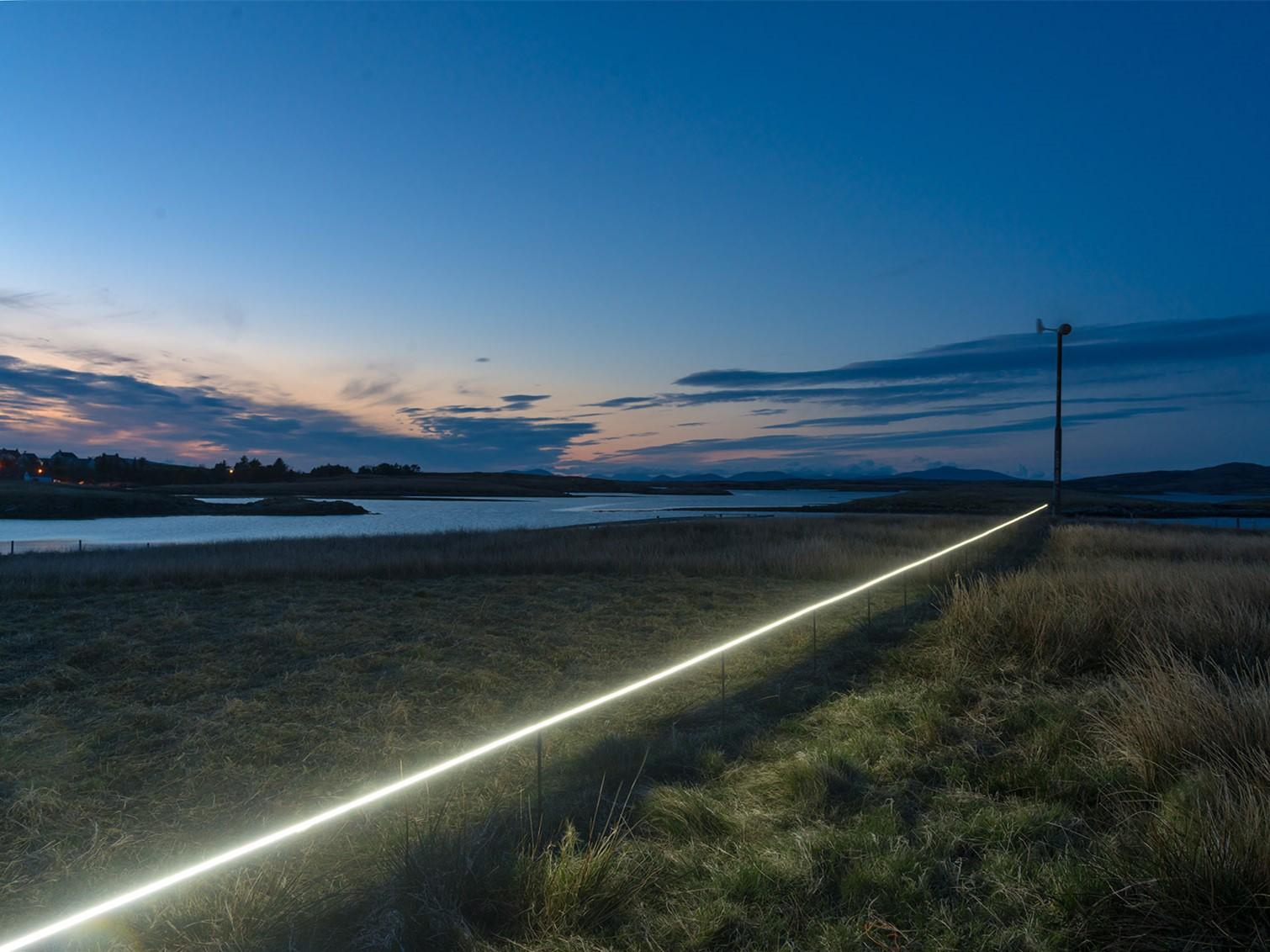苏格兰互动式定点灯光装置