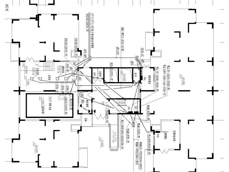 17层高层住宅电气全套图纸(含电视电话数据线路)