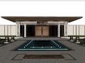 新城金越公馆居住区景观模型设计