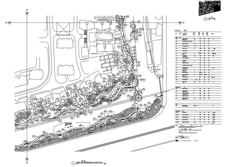 [广东]山水人家景观施工图设计(包含210个CAD+现场照片)-分区平面图1