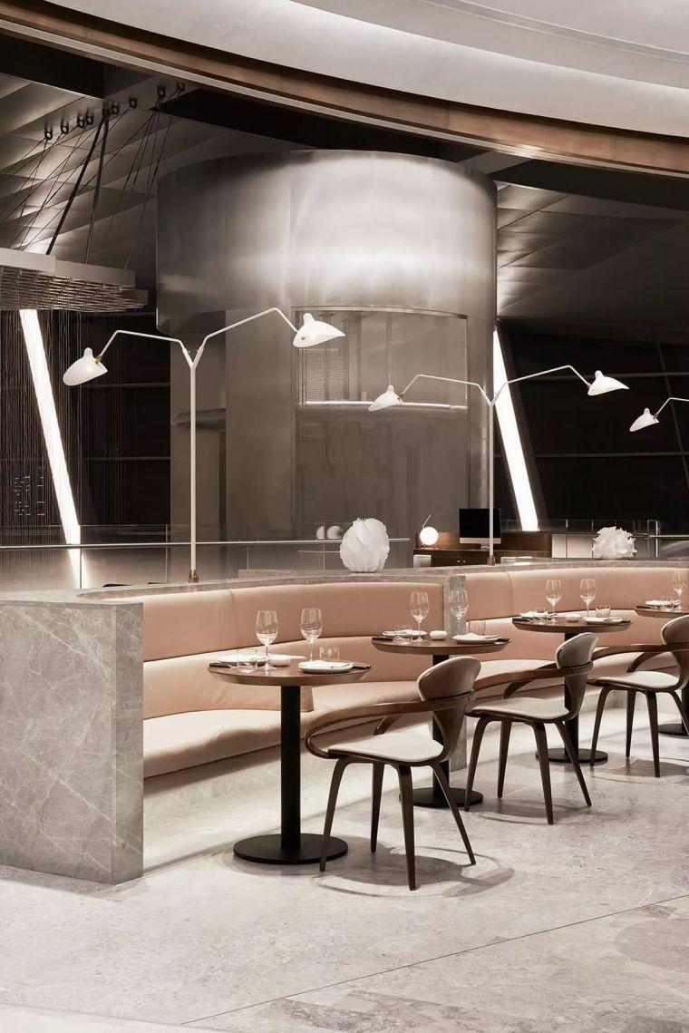 迪拜地标旁的2000平米超大餐厅,精致细节成就奢华设计_22