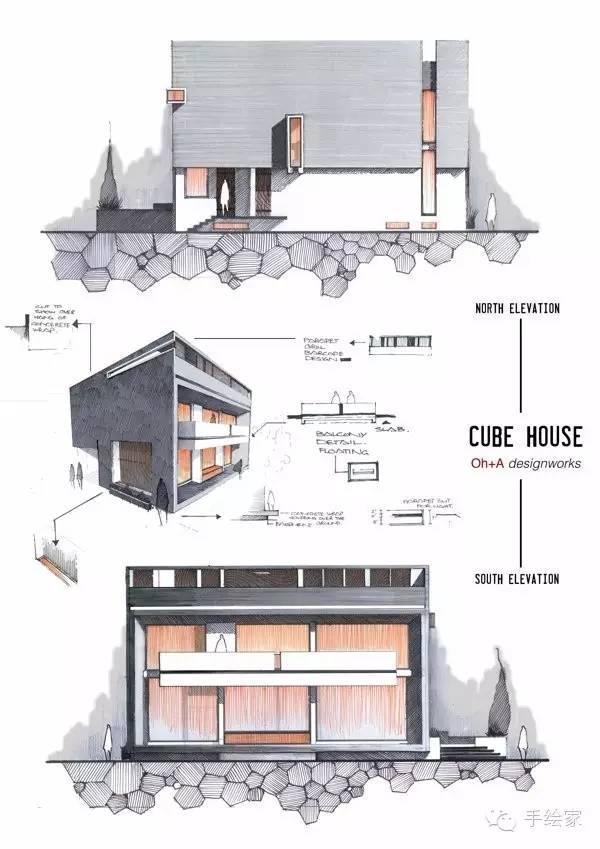 百年经典建筑设计手绘图_60