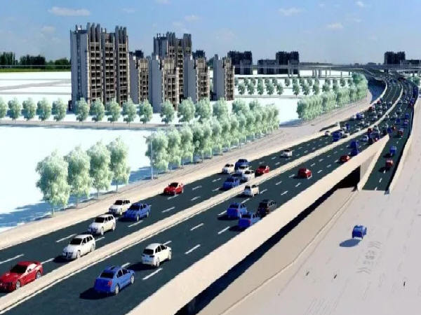 北园大街西延标志性工程桥梁顶升完成!高架段明年元旦通车