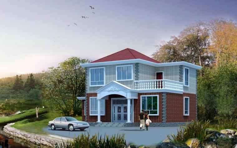 砖混结构两层独栋别墅建筑施工图设计