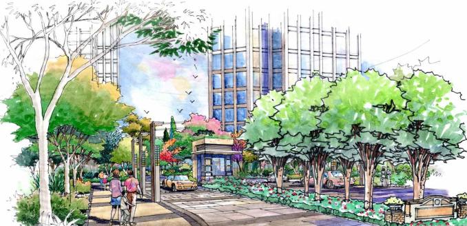 [长春]城市贸易中心公园景观住宅景观规划设计方案_6