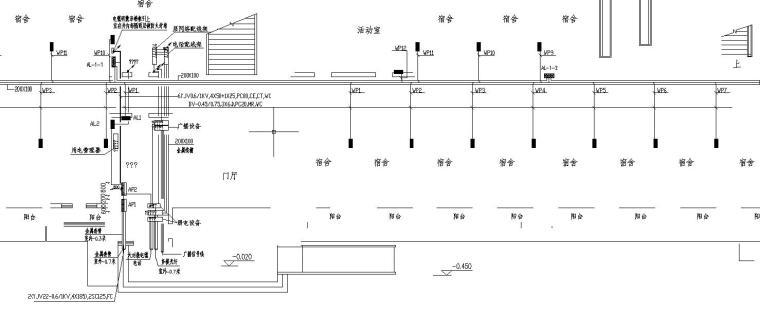 某高校六层宿舍楼电气图_2
