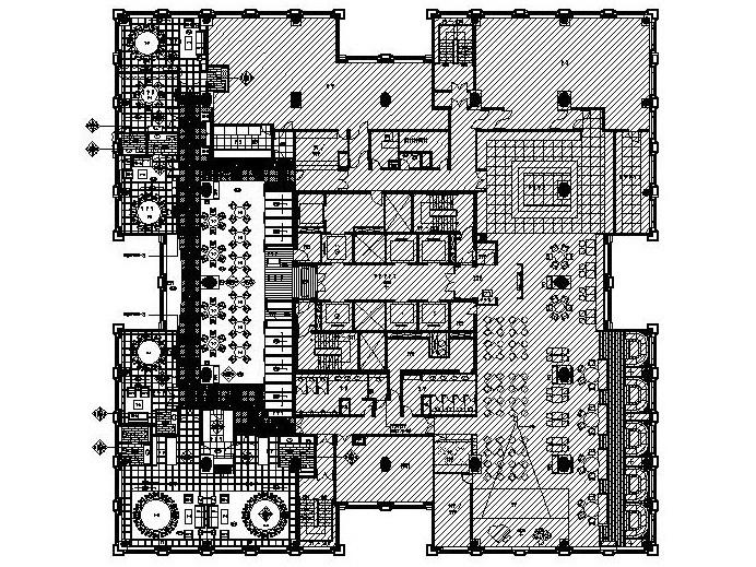 新中式风格——大型中餐厅全套施工图设计附效果图