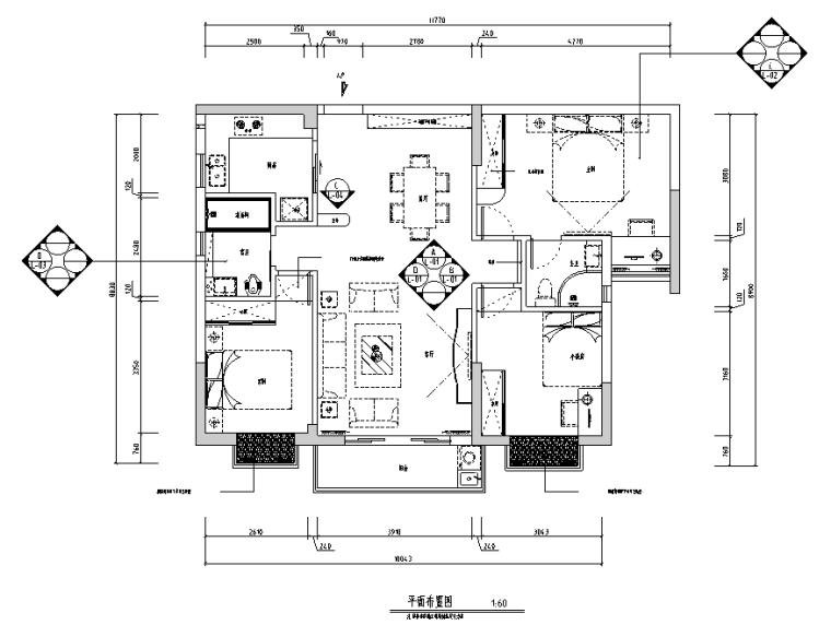 [广东]简欧风格住宅设计施工图(附效果图)