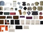 室内设计常用PSD彩色平面图块—沙发PSD图块