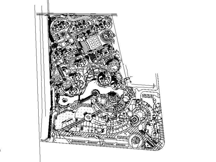 [国外]某居住区景观设计全套施工图(包含CAD+450个)——贝尔高林
