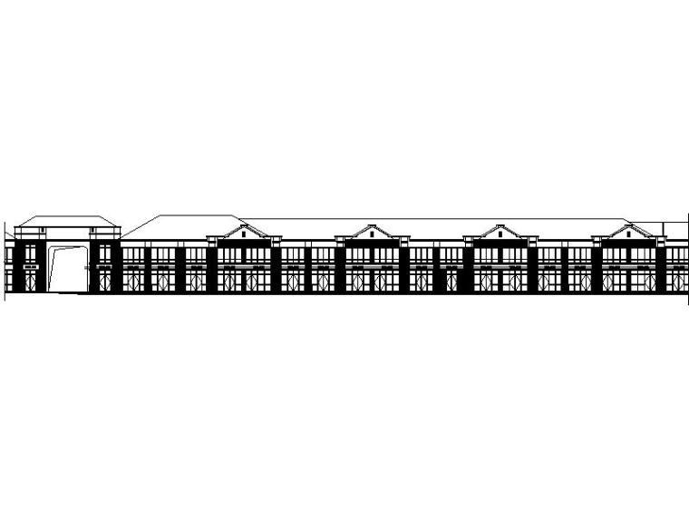 [福建]新古典风格住宅小区底层商业联排建筑施工图