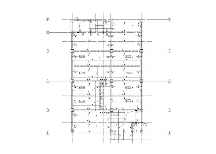 9层钢混框架结构车间结构施工图(2016)