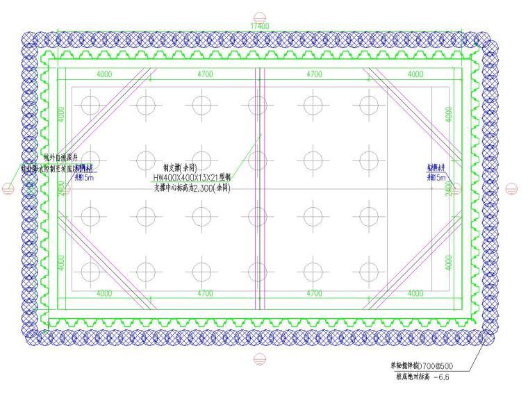 [非洲]拉森钢板桩加型钢角撑深基坑支护施工图及计算书