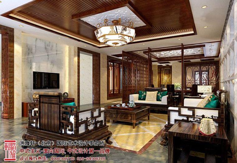 高贵大气的居住氛围泰兴四合院中式设计案例_2