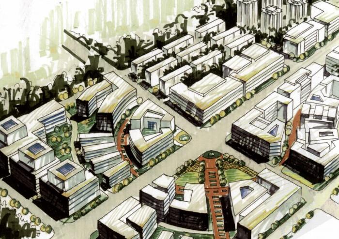 城市规划应聘作品集(快题设计)